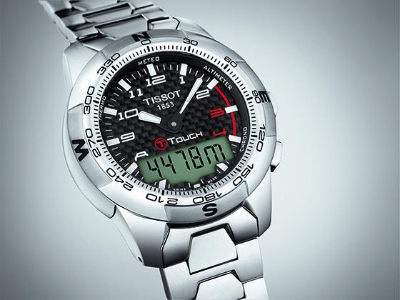 tissot t touch II titanium watch