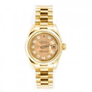 9.-rolex-lady-datejust-26-gold-dial-18k-yellow-gold-president-automatic-watch